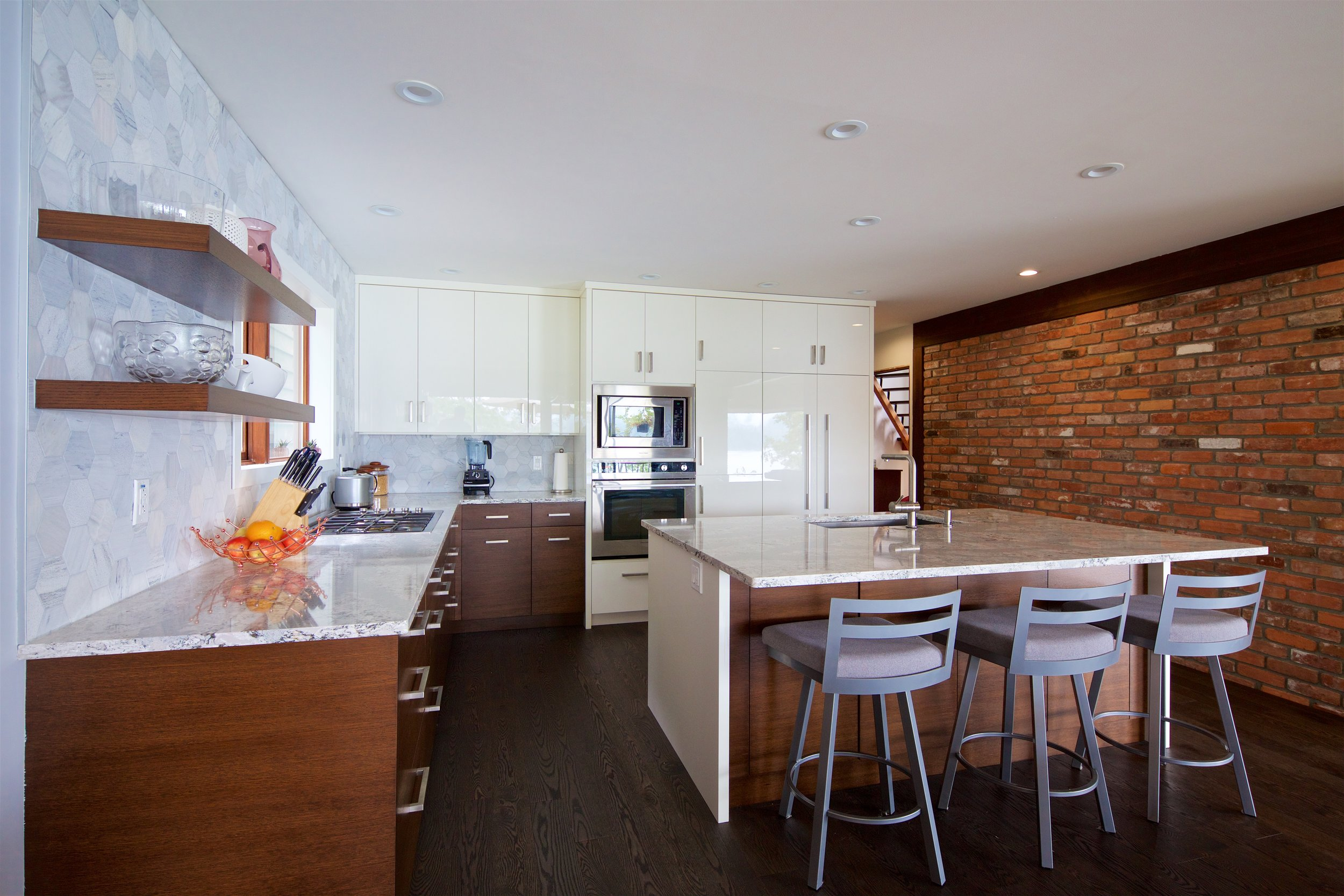 J. Pellerin - (Client)Project Date: November 2016, Project Price: $10,000 - $49,999My husband and I are very pleased with our new kitchen that was designed and installed by Cowichan Woodwork. The owner, Gordon, runs a professional, client-centred company. We ran into a couple of glitches and the company was flexible and accommodating. Pamela was a pleasure to work with and her expertise enabled us to create our dream kitchen. I checked out two other companies but Pamela really understood what we wanted. Issac installed the cabinetry and was detail-oriented and a true craftsman. My husband dealt with Aaron who was also great. Thank you to all of you at Cowichan Woodwork who worked on our kitchen renovation!