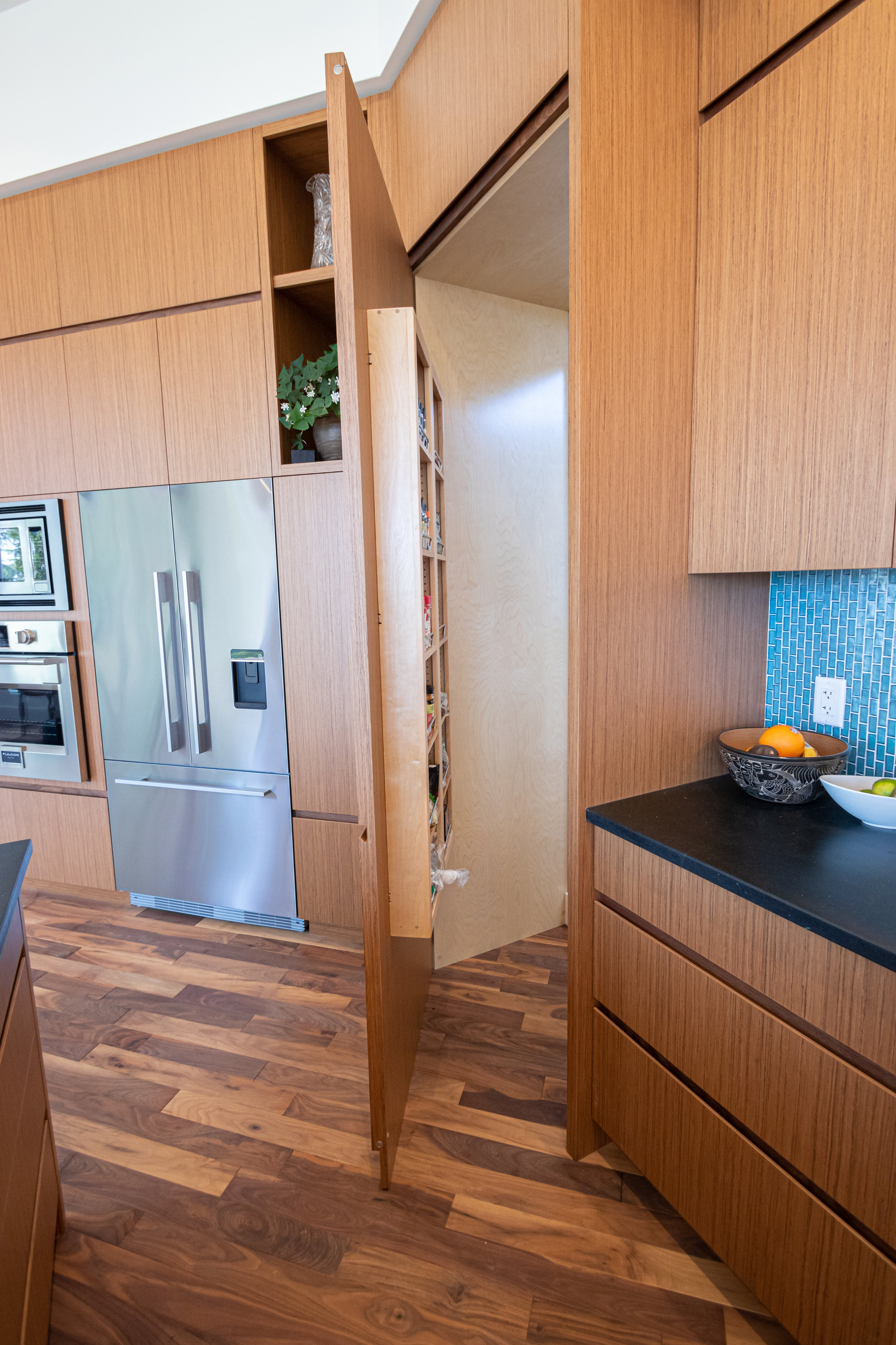 Timeless Nanaimo Remodel in Teak and Black Walnut