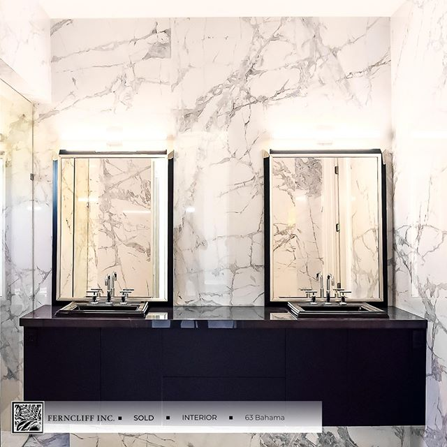 Vanity with Large Format Tile at 63 Bahama. . Designed. Built. Listed. www.ferncliffinc.com . . . #ferncliffinc #ferncliff #modernhome #interior #interiordesign #design #homedecor #home #homedesign #architecture #decor #interiors #luxury #moderns #moderndesign #instahome #homestyle #art #homesweethome #homedetails #housegoals #interiordetails #homeinspo  #instagood #photooftheday #inspiration #realestate #luxurylifestyle #love