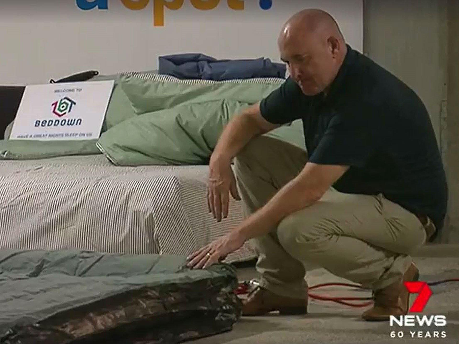 Founder of Beddown Norm McGillivary does a story with 7 news.  Click here to see the video.