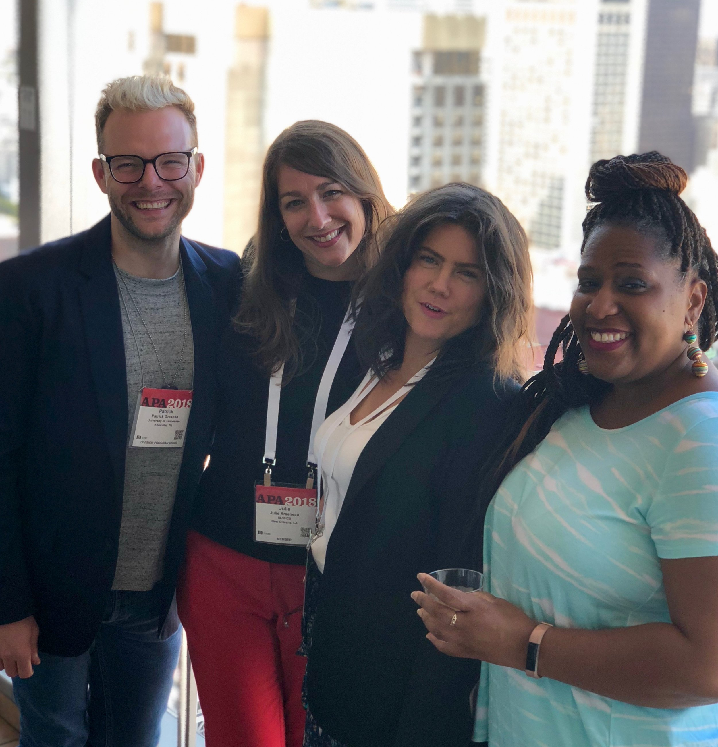 Grzanka with colleagues at the American Psychological Association 2018 annual convention in San Francisco.