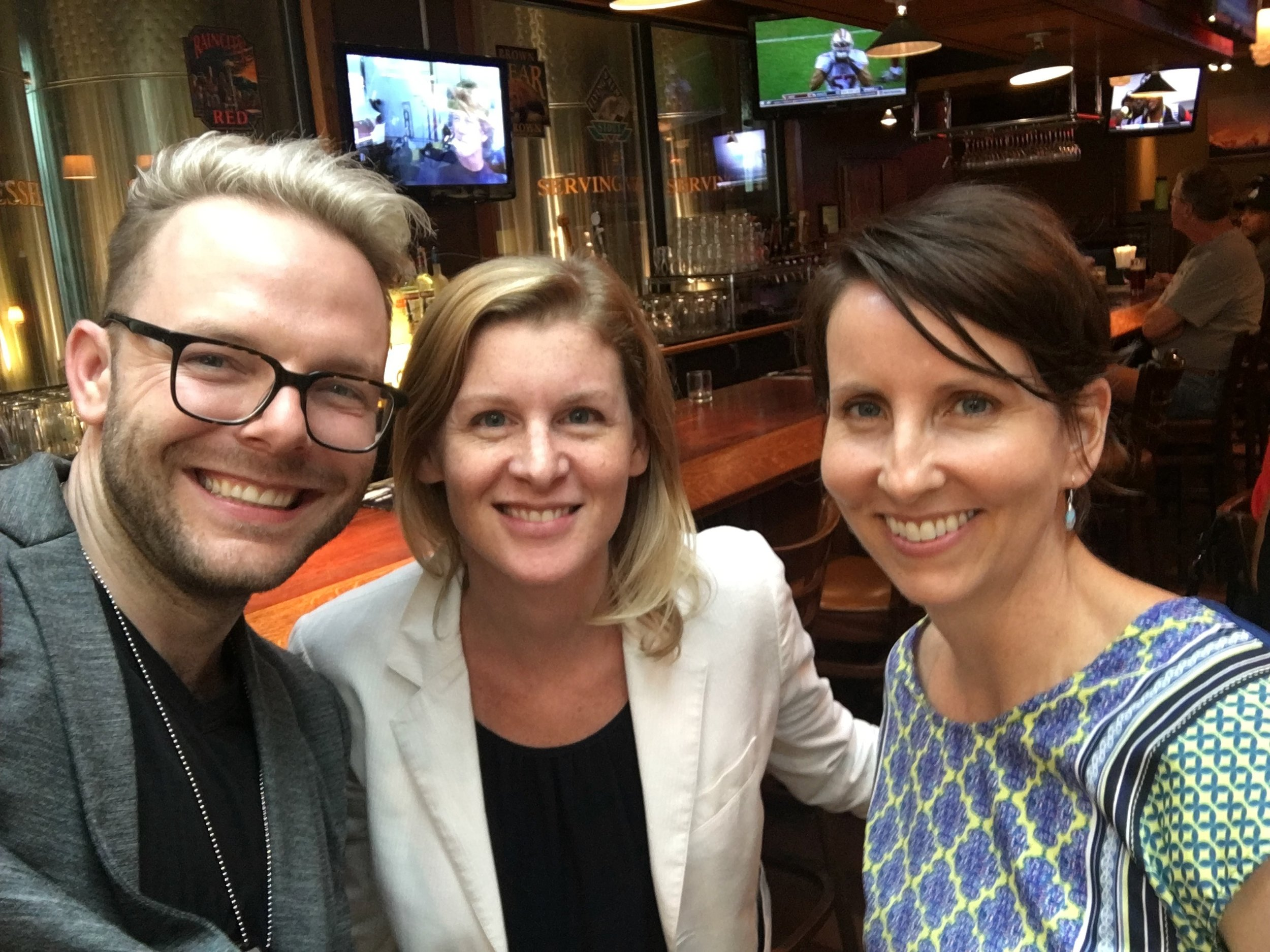 Grzanka with colleagues Emily Mann and Sinikka Elliott at the annual meeting of the American Sociological Association in 2016.