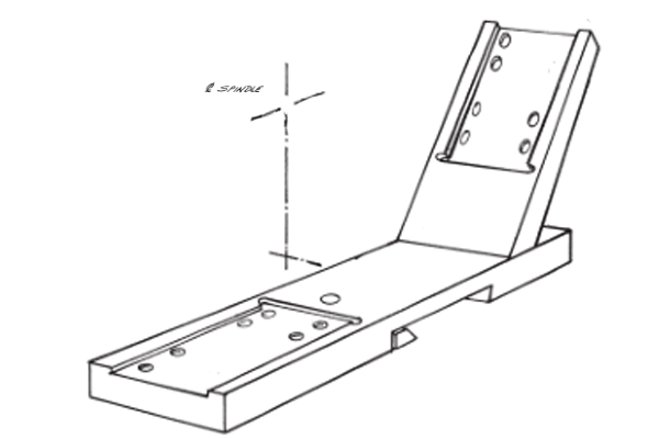 #10-299 – FRONT & REAR SUBPLATE   Use with Standard Front Slide #10-135 and Rear Slide #10-138