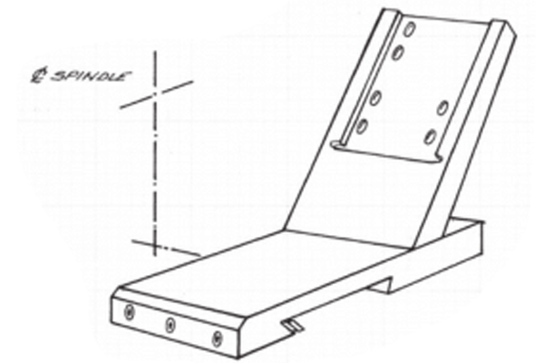 #10-127 – REAR SUBPLATE   Use with Standard Rear Slide #10-138