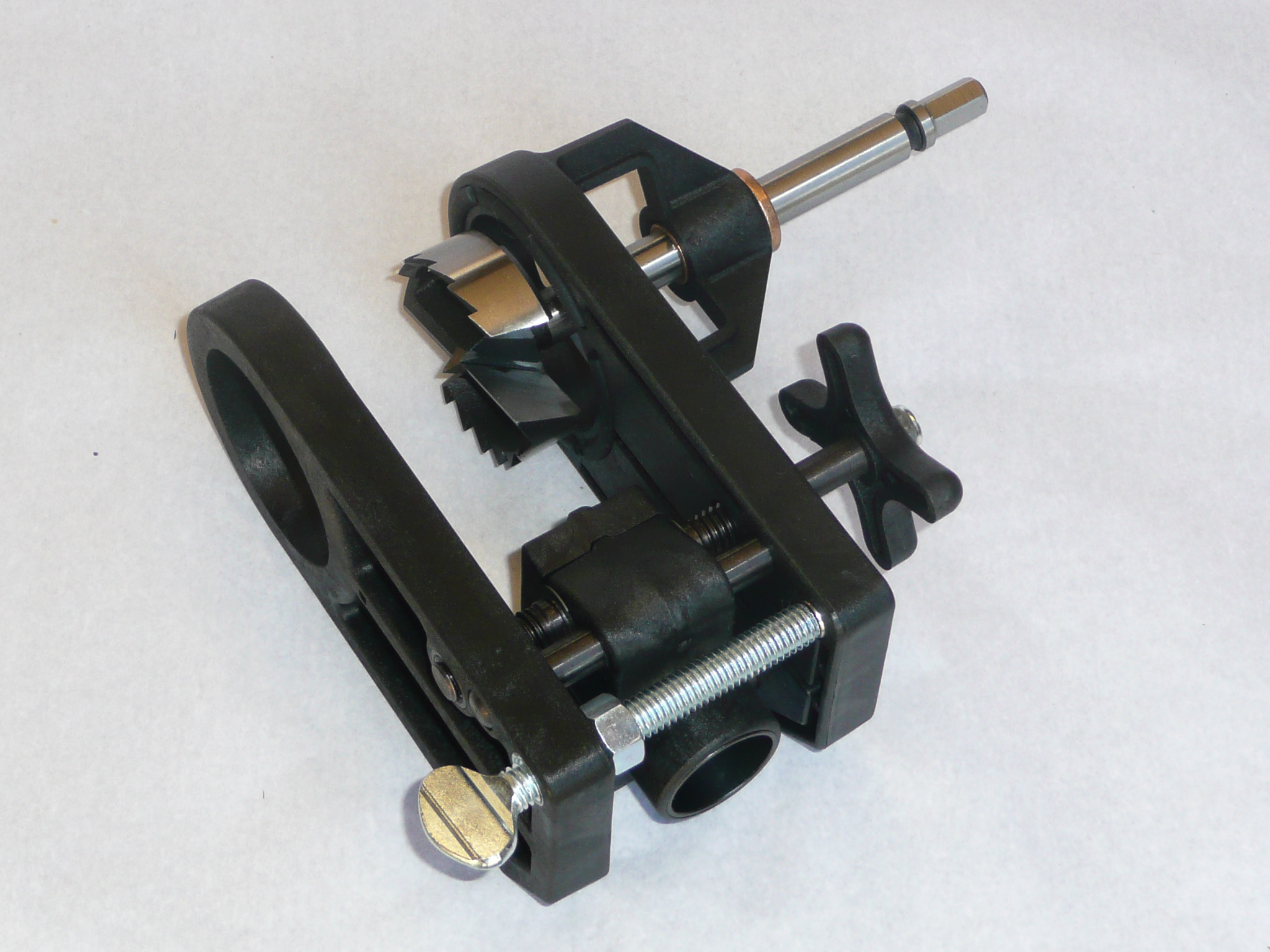 Drill Jig With Self Centering Screw, Side Bronze Guide Brushing, And  2-Position Backset