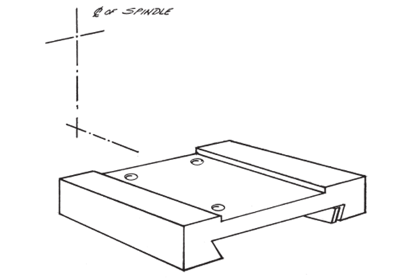 #10-298 – TAIL SUBPLATE   Use with Standard Tail Slide #10-136.