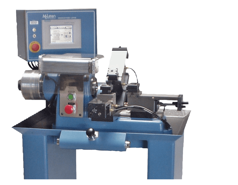 """Versatility & Efficiency - Taking a lathe with a 9"""" swing, we've added air powered slides with a controller to operate the movement of the collet, spindle, and each slide. This allows an unskilled operator to make thousands of parts with greater speed and accuracy than with comparablypriced lathes. With the versatility of the McLean System, you have an effective alternative to higher-priced equipment."""