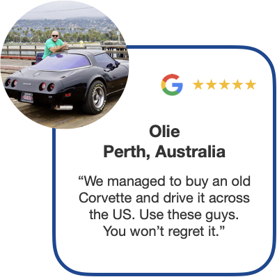 Olie-mid-career-sabbatical-from-Perth-Australia-buys-classic-chevrolet-chevy-corvette-muscle-car-for-tour-across-united-states