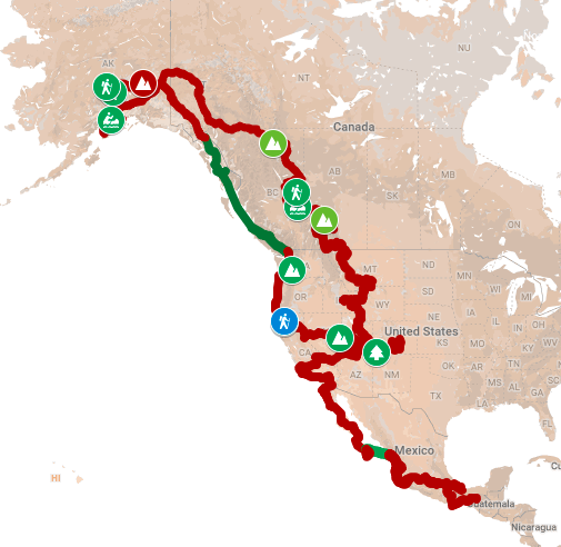 Dave and Jane's trip route as of March 2019