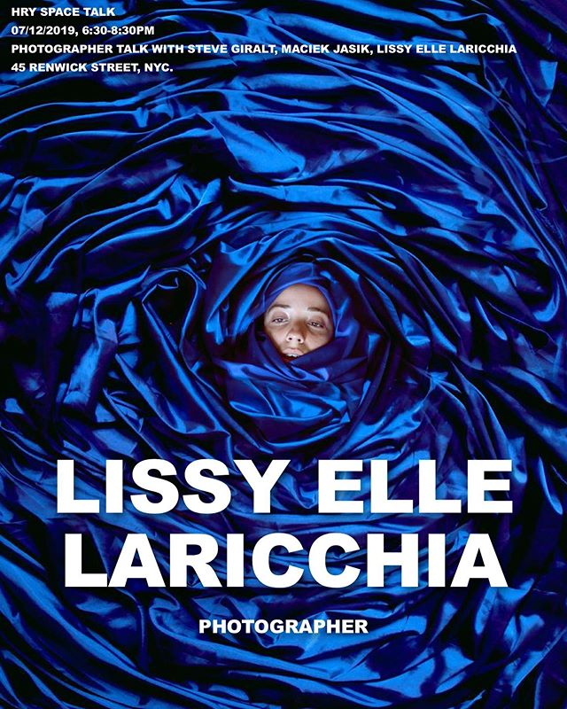 """Lissy Elle Laricchia (@lissyellelaricchia)  Lissy grew up in a small town in Canada between a cornfield and a tall forest, and frequently played pretend in between them. Her interest in photography began at the age of 12, spurred by the obsessive fear she would one day forget her entire life were she not to document it.  As a teenager she became far less fascinated with documenting life, and far more intrigued with escaping it. By creating surreal landscapes and building elaborate blanket forts she hid from the trials and tribulations of teenage life until, at the age of 18, she moved to New York City to pursue a career in photography.  Now her work focuses on the combination of her two loves, documentary and surrealism. Combining forces to create whimsical imagery that still centers around every day life. Her work is often inspired by the vivid colors of early childhood, reoccurring dreams, the blurry way we see things when we are either too happy or too sad, and the soft hands of the high renaissance.  Her work has been exhibited in New York, London, Toronto, Boston, Munich, Detroit and Guatemala City.  Lissy will be one of the panelist for HRY SPACE Talk under the theme: """"Photographer Talk with Steve Giralt, Maciek Jasik, Lissy Elle Laricchia"""" on July 12th from 6:30pm to 8:30pm.  #HRYSPACETALK #LissyElleLaricchia #Photography"""