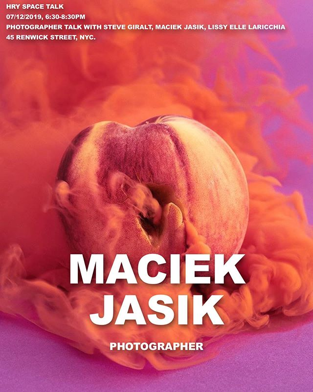 """Maciek Jasik (maciek.nyc) Maciek Jasik was born in Gdansk, Poland in 1978, but arrived in the US six years later with his parents. His work is primarily focused on Western society's relationship with nature and questions of identity, representation and the self.  He employs color fields and other in-camera effects to reinvent faces, places and objects. Clients include: IDEO, Elysium Health, Adidas, VICE, The New Yorker, GQ, The New York Times, Wired UK, New York magazine, and many others. He lives in New York City  Maciek will be one of the panelist for HRY SPACE Talk under the theme: """"Photographer Talk with Steve Giralt, Maciek Jasik, Lissy Elle Laricchia"""" on July 12th from 6:30pm to 8:30pm.  #HRYSPACETALK #MaciekJasik #Photography"""