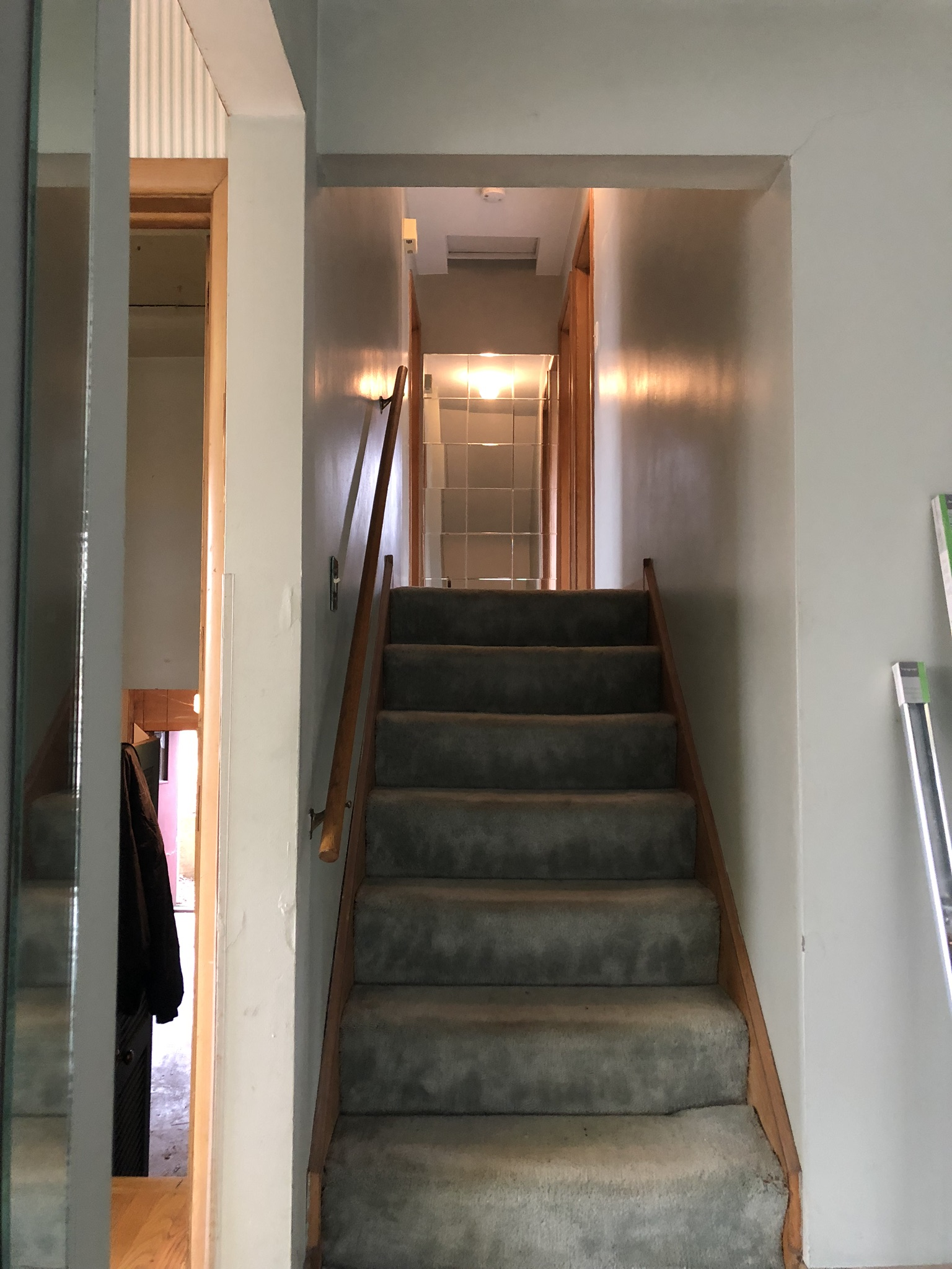 3 Bedroom 2 Bathroom Single Family Home Ronovation | Before | Equity Twins | Oak Lawn, IL | Chicago, IL| View of Stairs