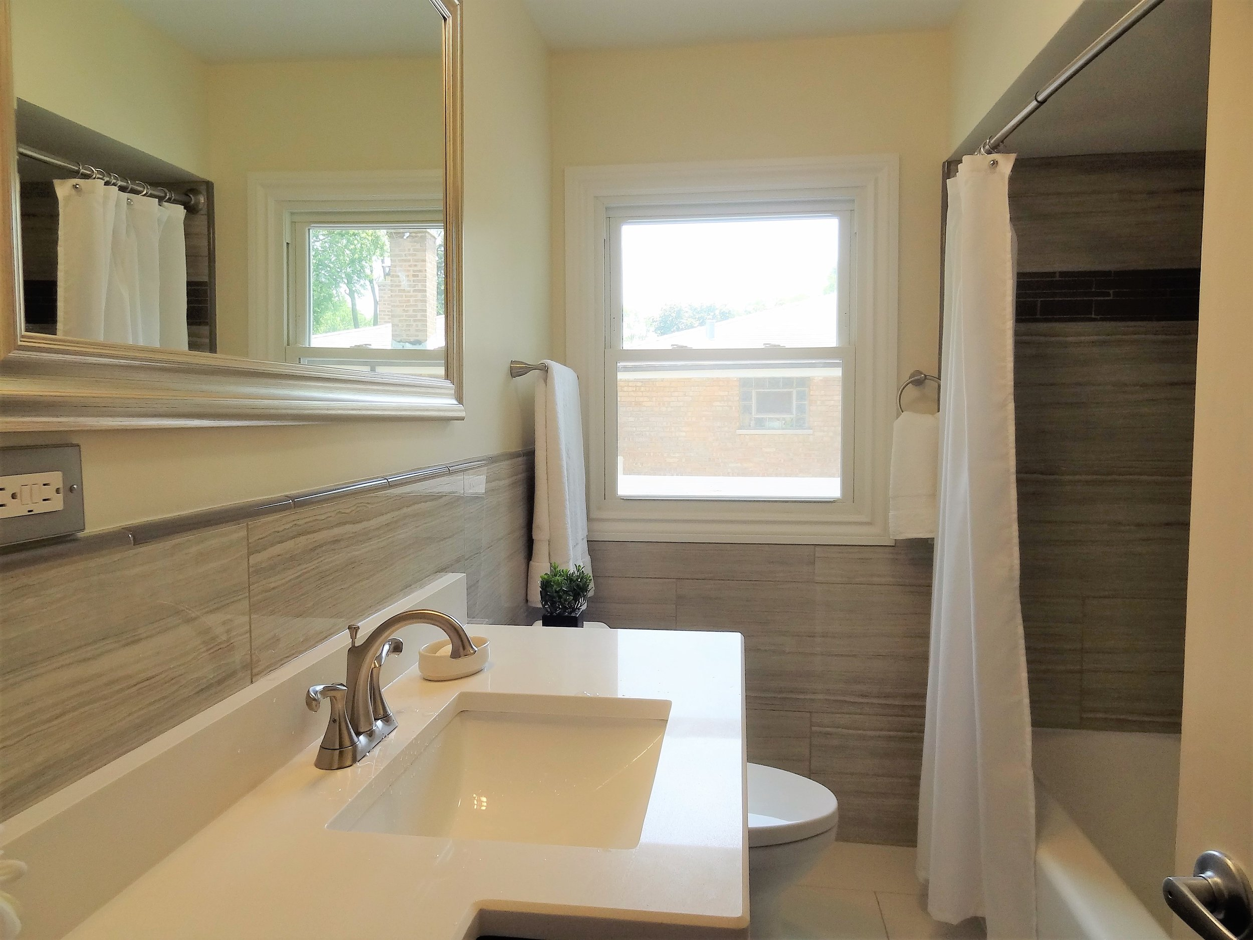3 Bedroom 2 Bathroom Single Famly Home Ronovation | After | Equity Twins | Oak Lawn, IL | Chicago, IL | Updated Bathroom