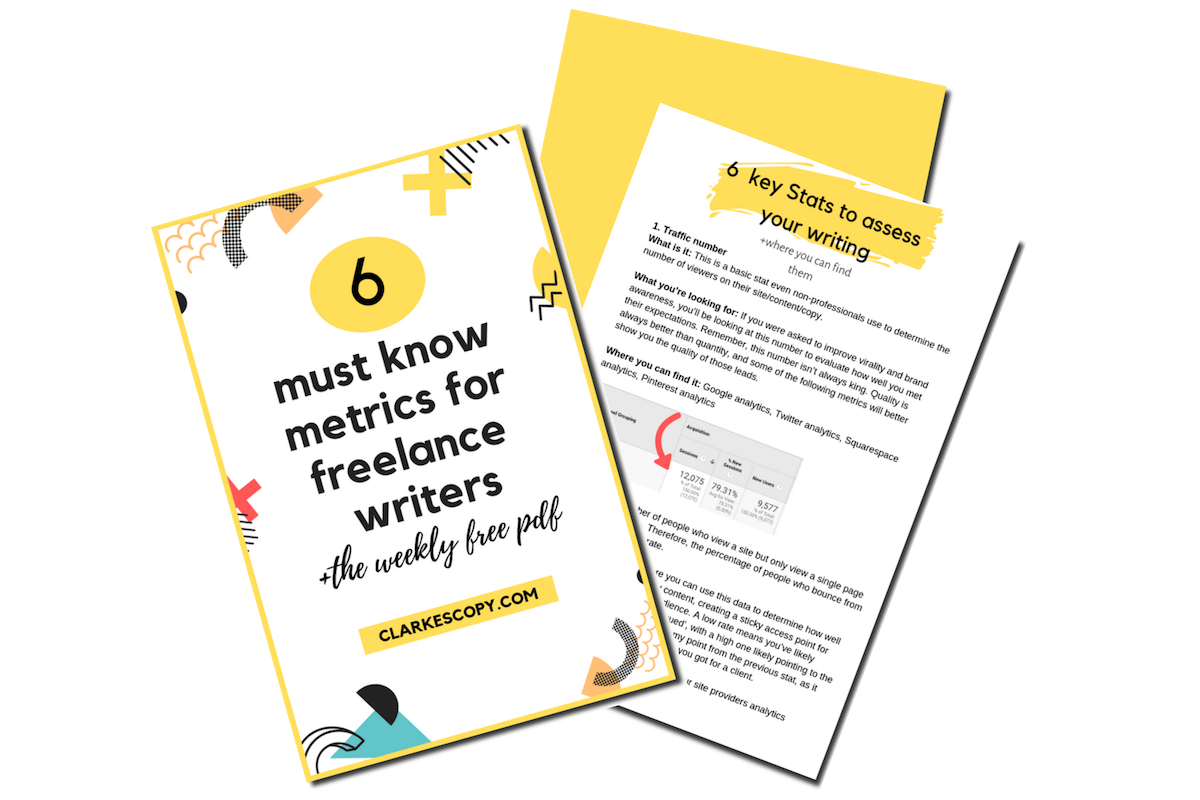 6 metrics for freelance writers image