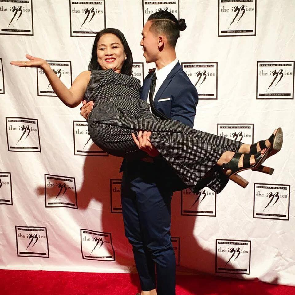Mother & Hien at 2019 Isadora Duncan Awards  Receiving 'Outstanding Individual Performer' Award for Within these Walls 2017