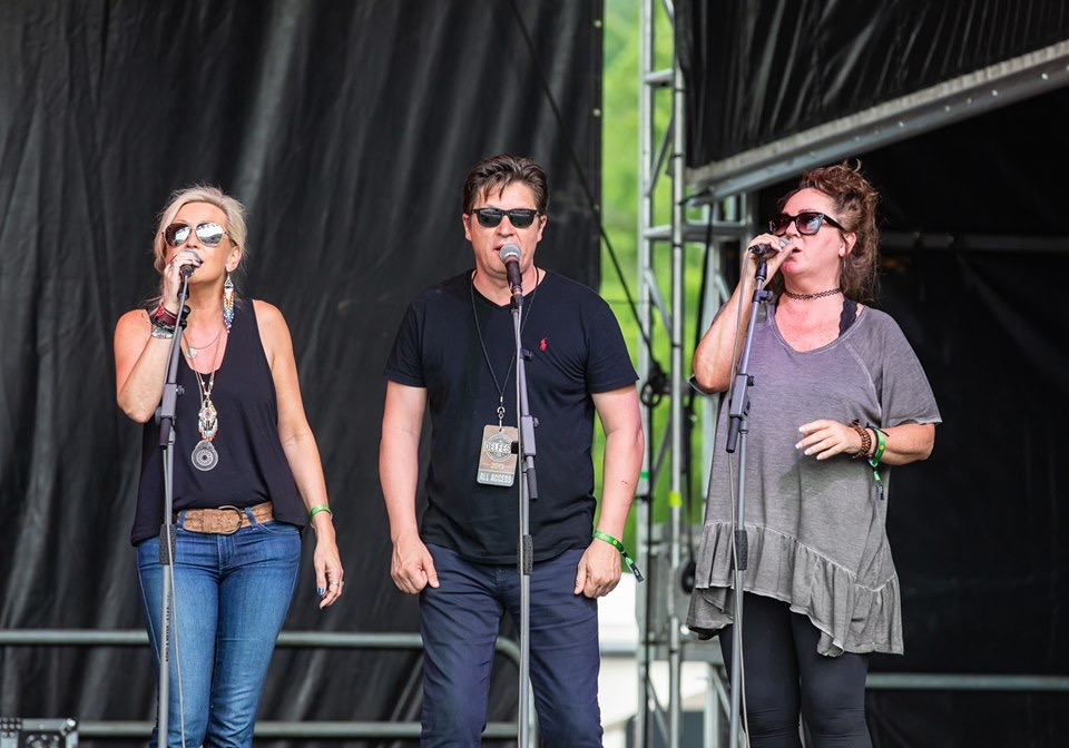 Capture at Delfest by Shelley Swanger Photography…singing backup for The Gibson Brothers!