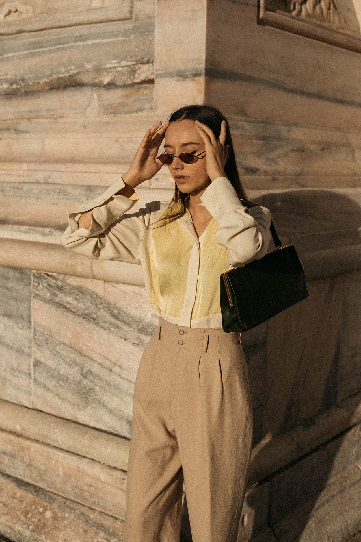 Vintage-round-sunglasses-90s-fashion-style-milan-editorial-by-malene-birger-lemon-yellow-silk-blouse-outfit-ideas.jpg