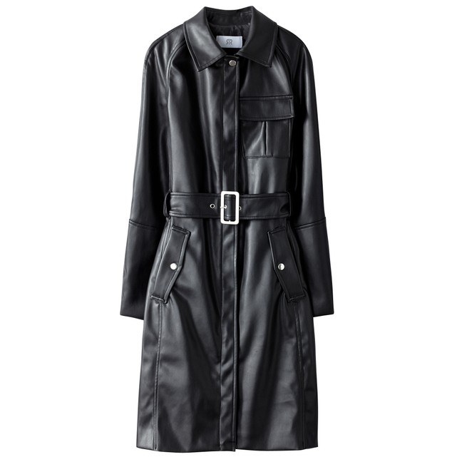La Redoute Faux Leather Trench Coat
