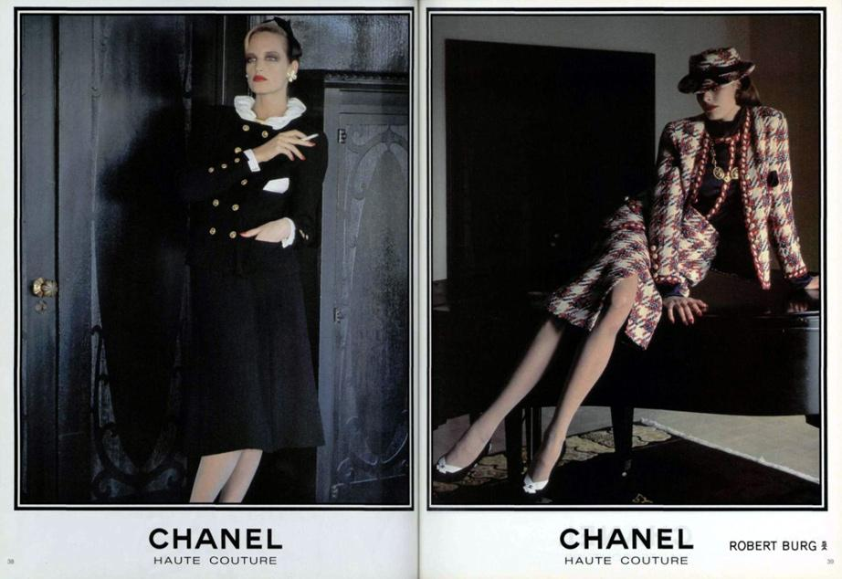 Chanel Haute Couture, 1983; Karl's first Haute Couture collection for Chanel.
