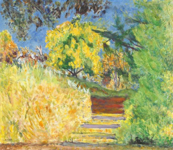 Stairs in the Artist's Garden - Pierre Bonnard, 1942-4