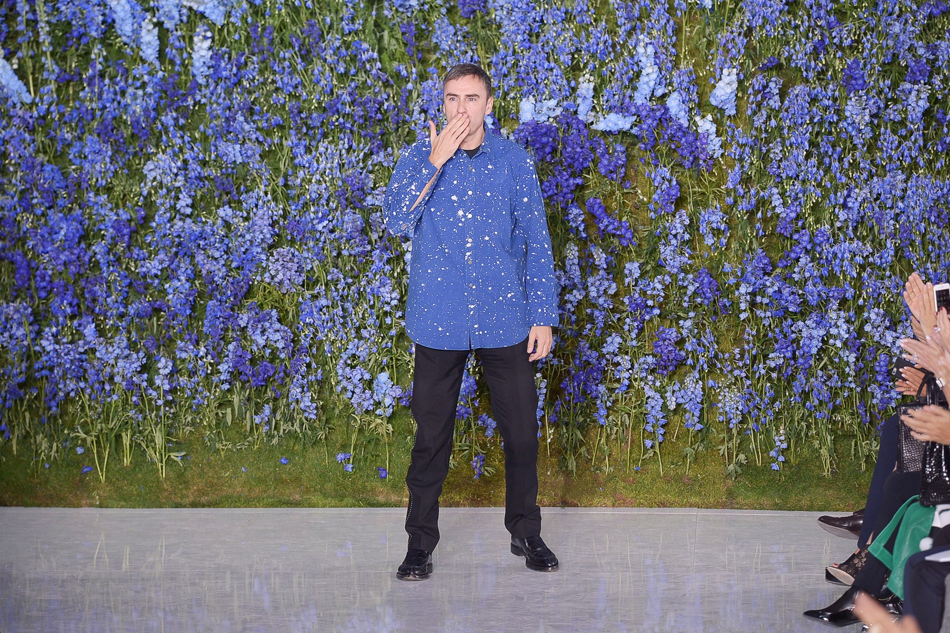 Raf Simons at his last show for the maison Christian Dior SS16