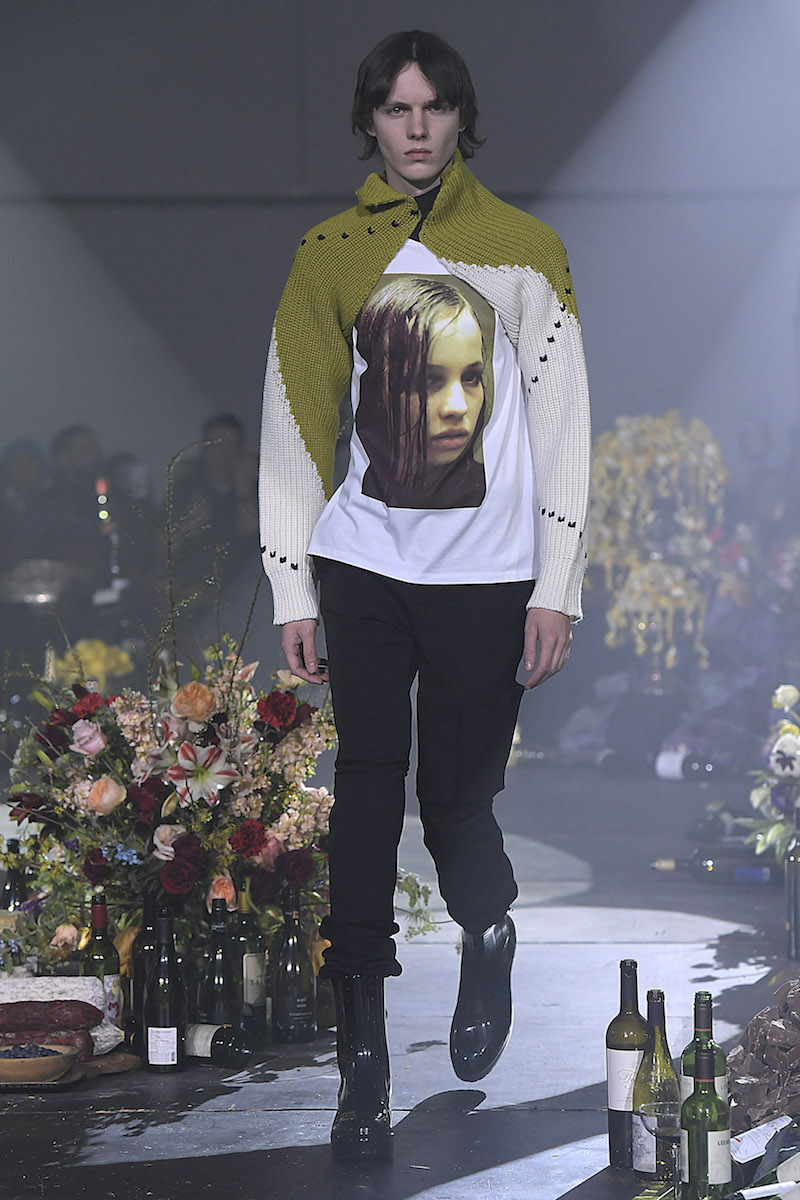 Raf Simons SS18 Meanswear Christiane F. inspired collection pictures from Vogue Runway App