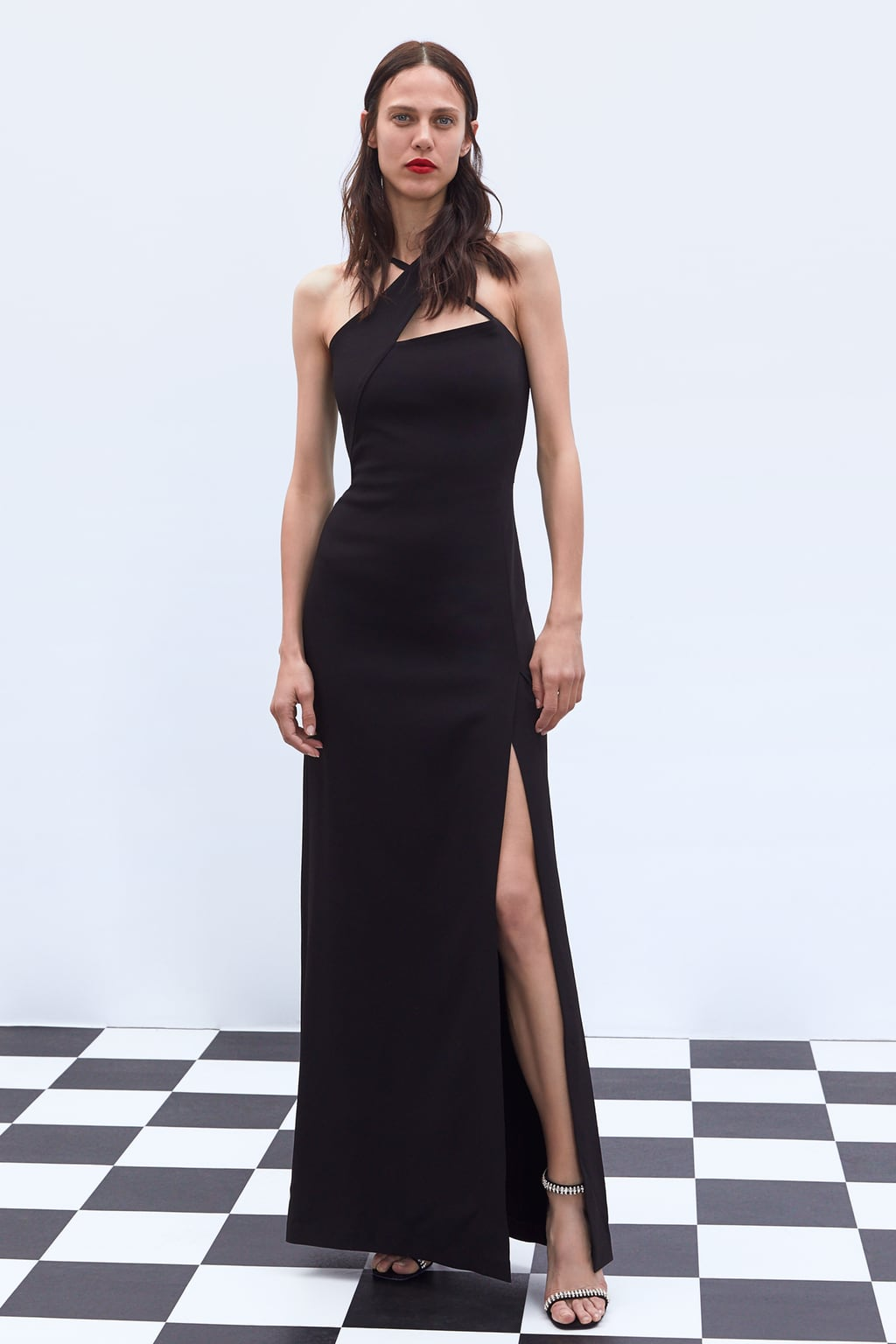 DRESS WITH CROSSED STRAPS - 95.99 GBP