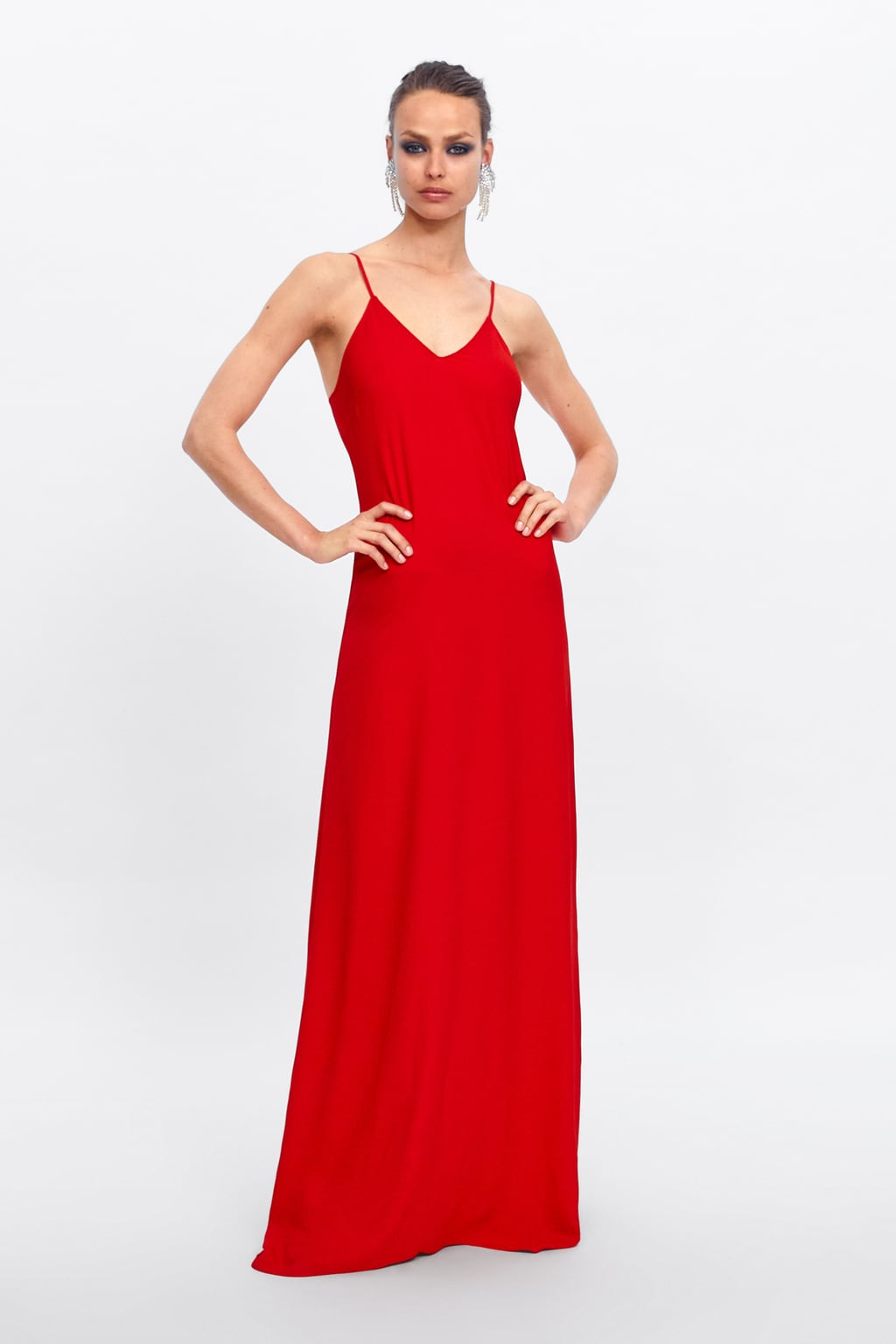 RED LONGSTRAPY DRESS - 69.99 GBP
