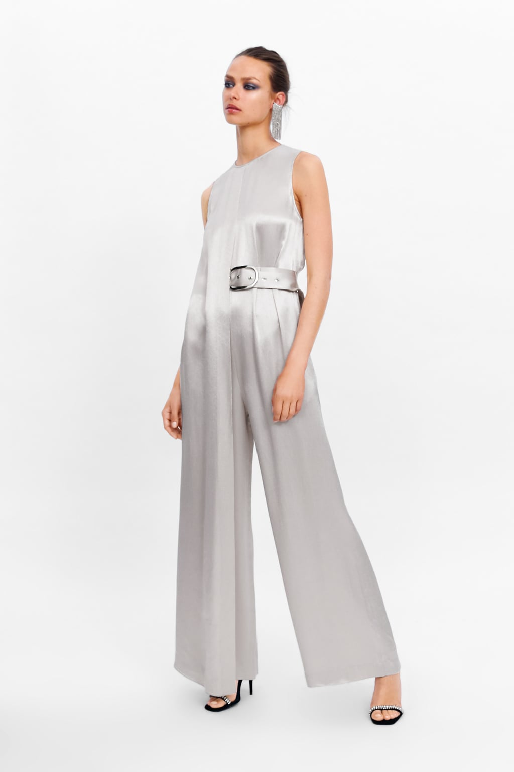 CHAMPAGNEBELTED JUMPSUIT - 89.99 GBP
