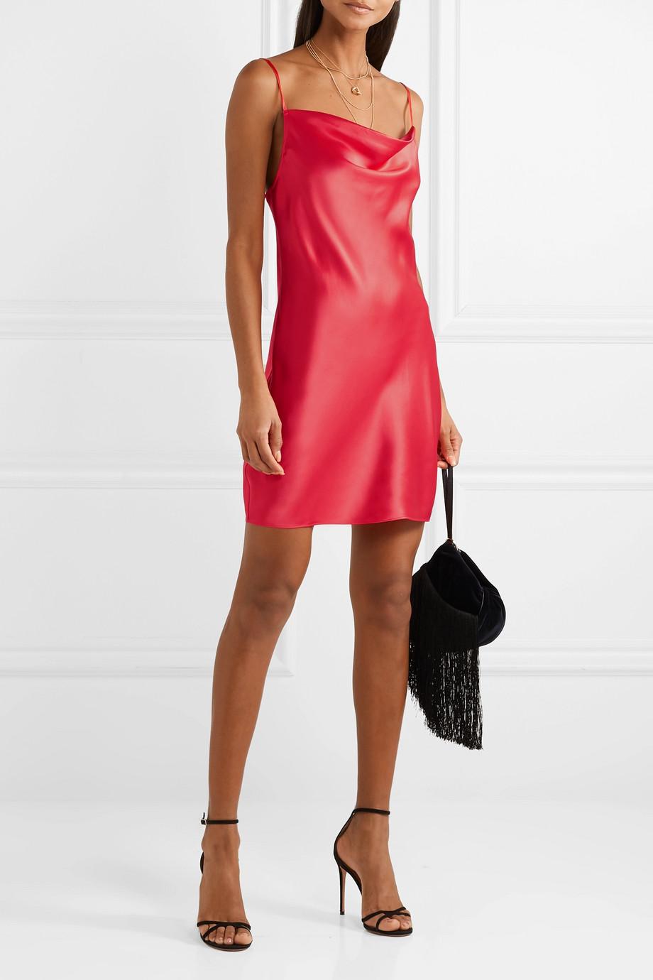 FLEUR DU MAL - Draped Silk-Charmeuse Mini Dress£259.03 GBP
