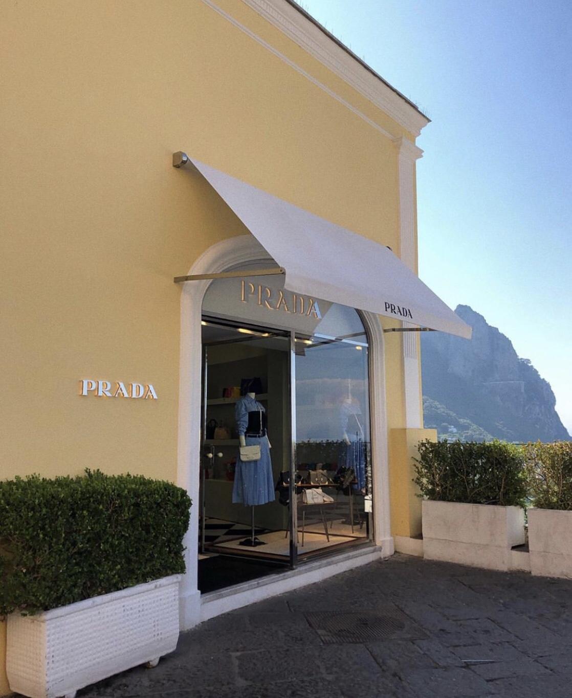 The Prada store in Capri, Italy.