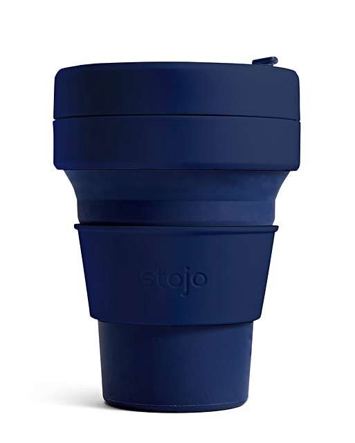 Navy Collapsible Pocket Cup, Stojo £12