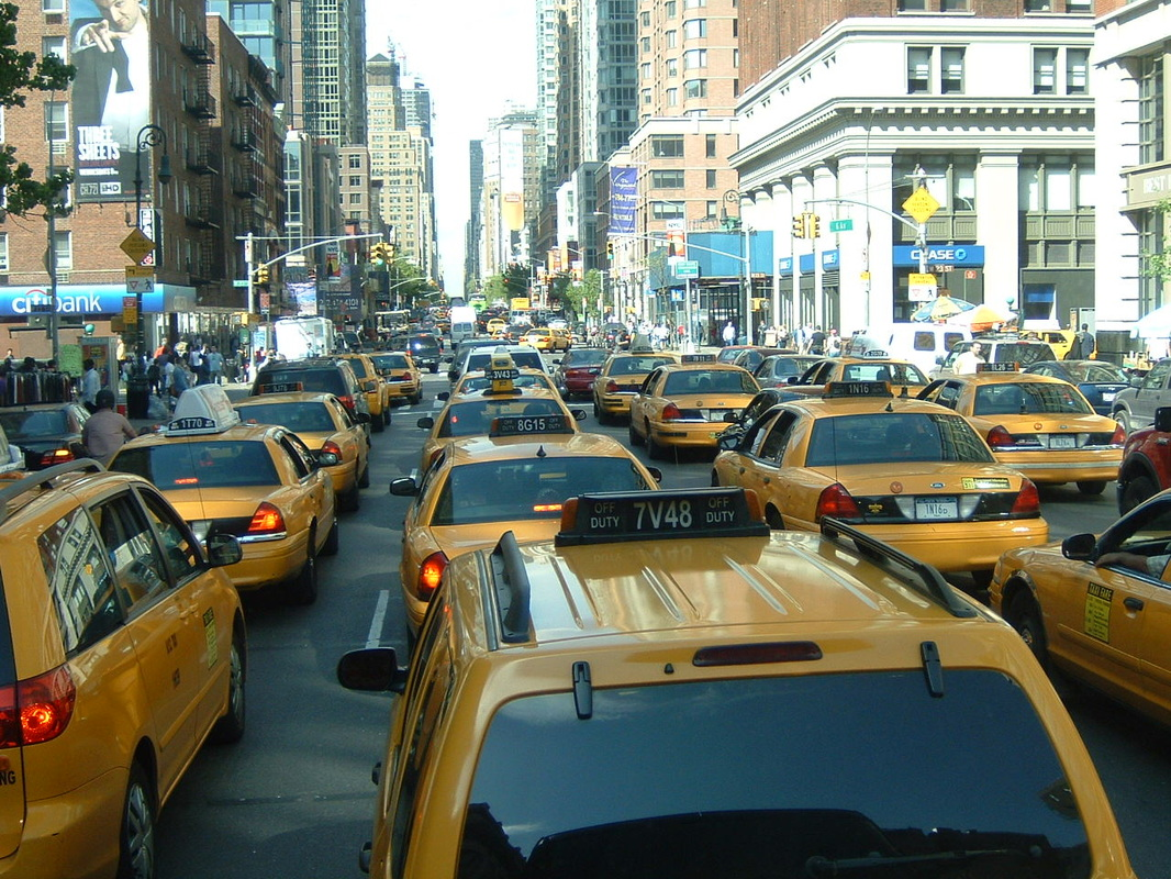 New York City Cabs…will we ever see an image like this again with companies like Uber and lyft taking over???