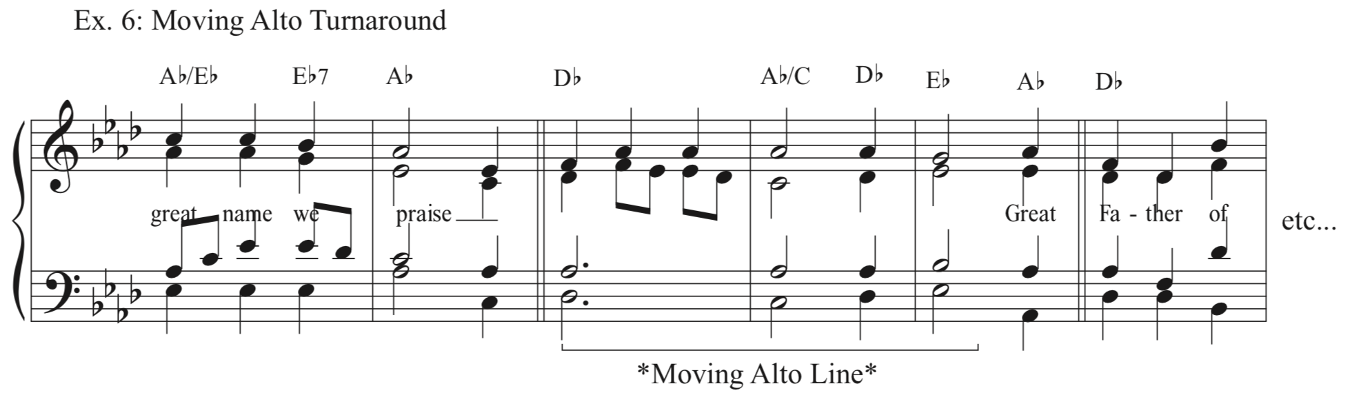 Ex. 6 - Moving Alto Turnaround - Because the alto voice needs a little love, too.