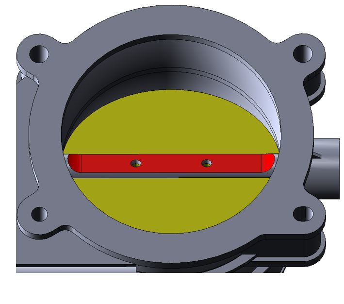 Figure 16. Aftermarket PTB-B, seen from outlet side and showing half-shaft modification.