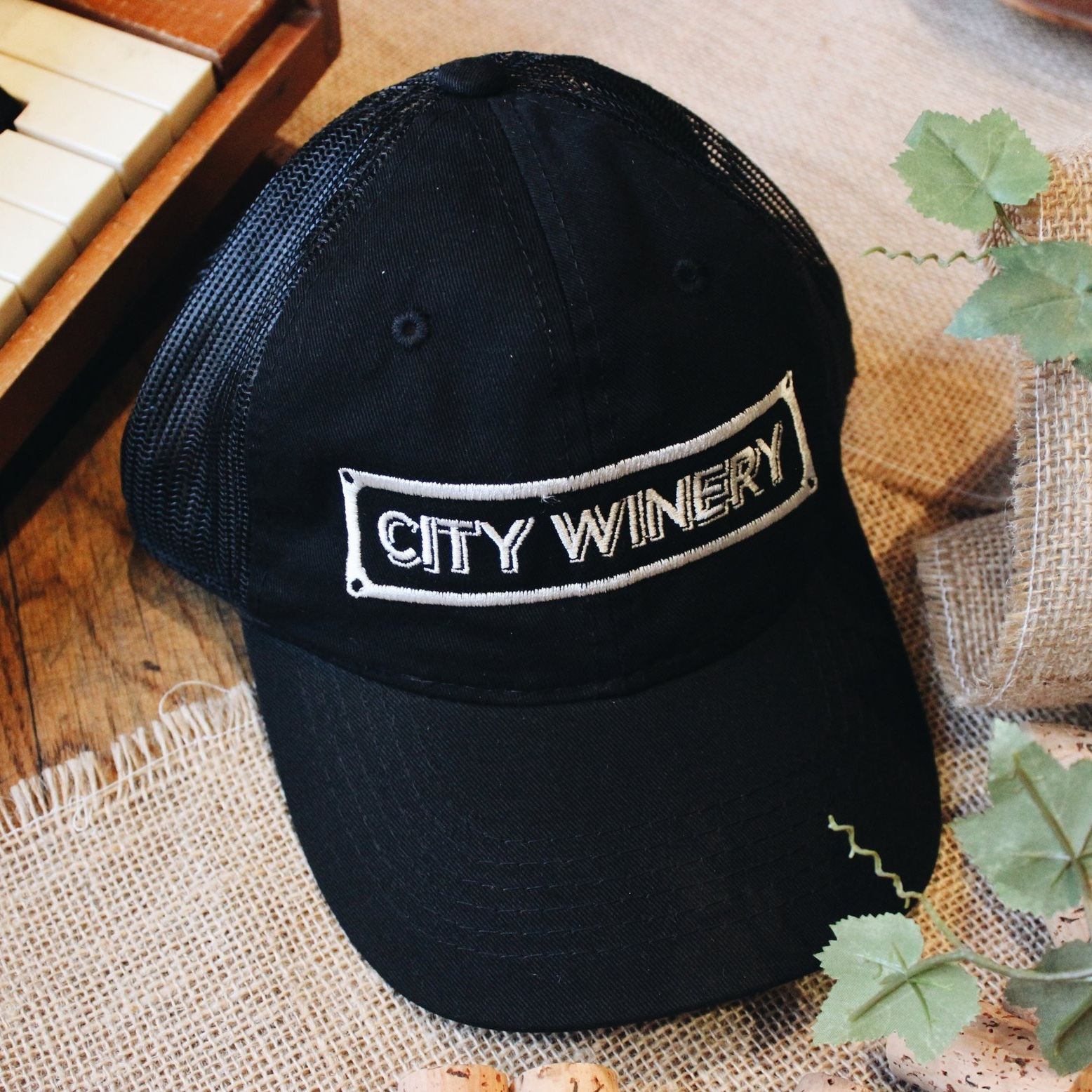 CW Logo Mesh Trucker Hat - One size fits all.
