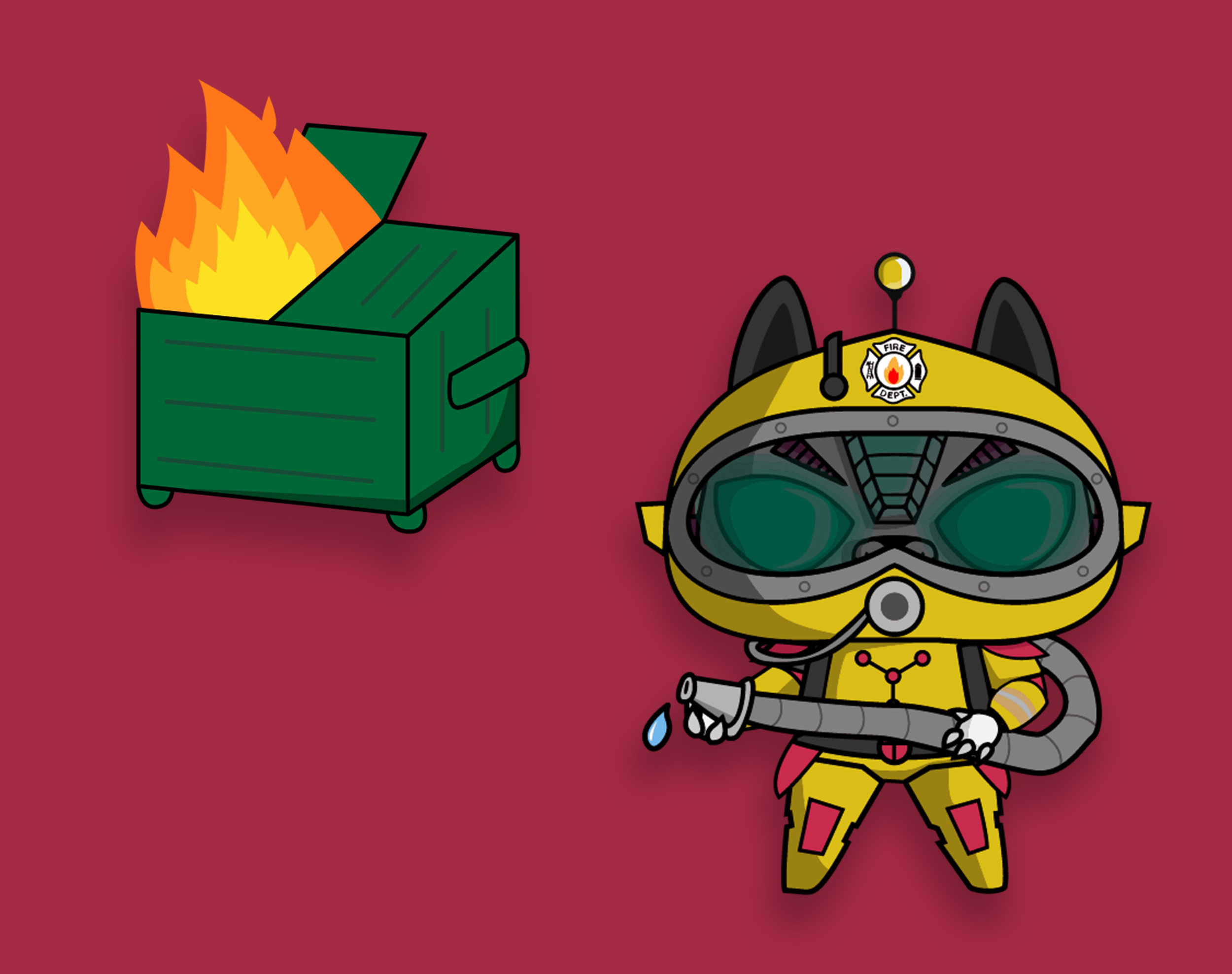 Firecat - A futuristic firefighter version of IONCAT. Inspired from the popular video game series Mass Effect.