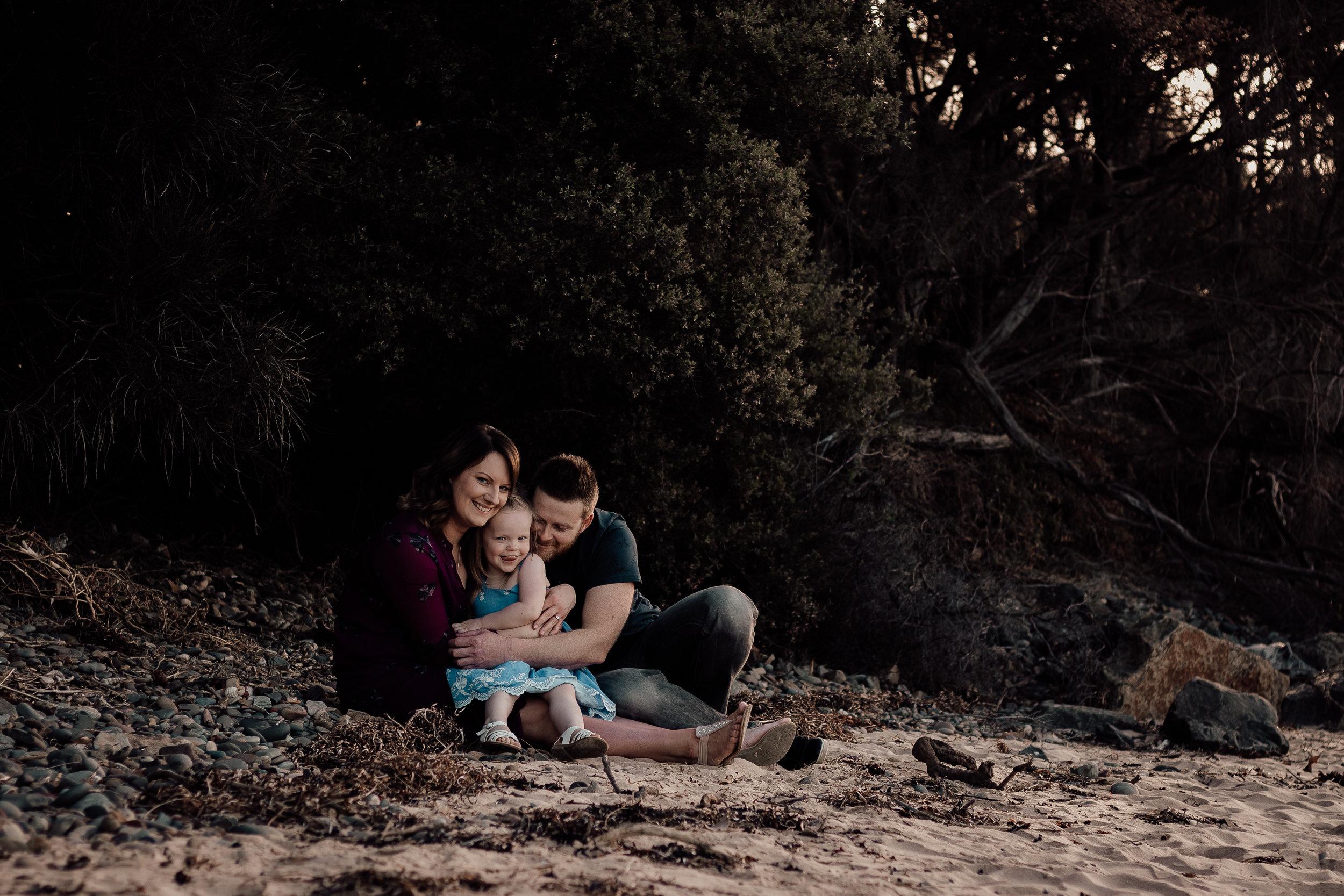 Anita, Drew + Elodie - Family Photo Session | Minnamurra River, NSW