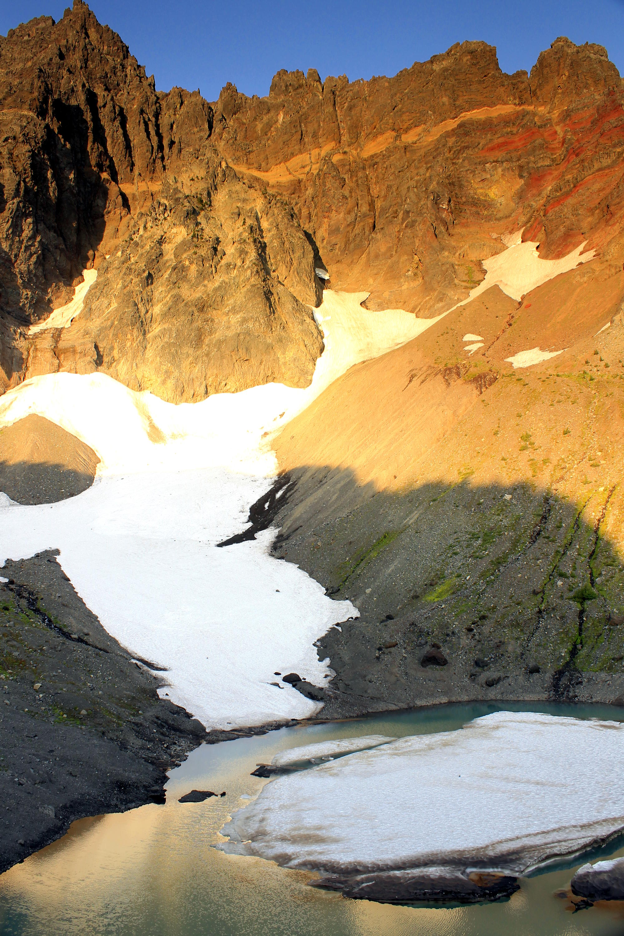 Three-Fingered Jack's glacial lake.