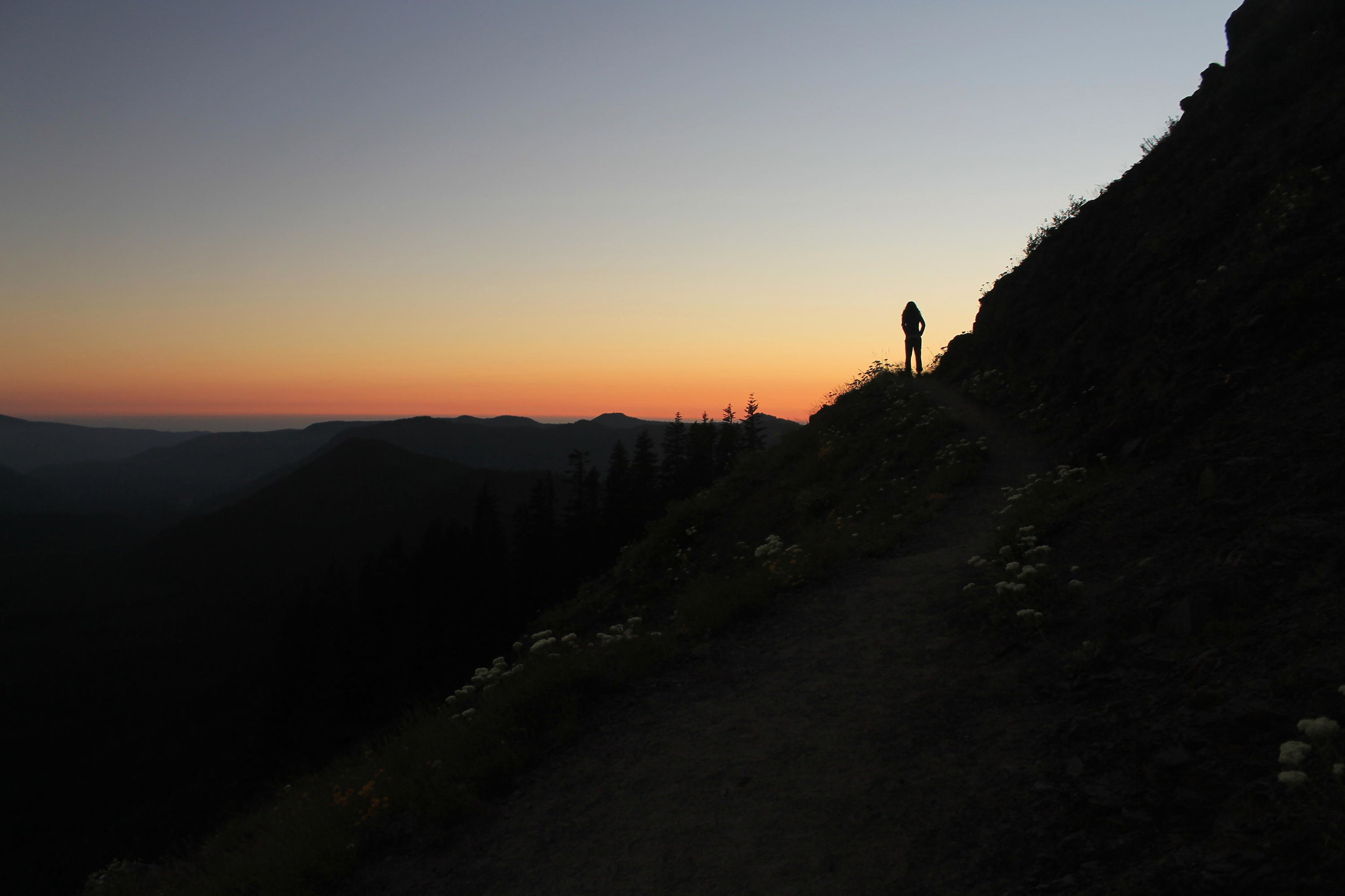 Sunset over the Valley at Bald Mountain.