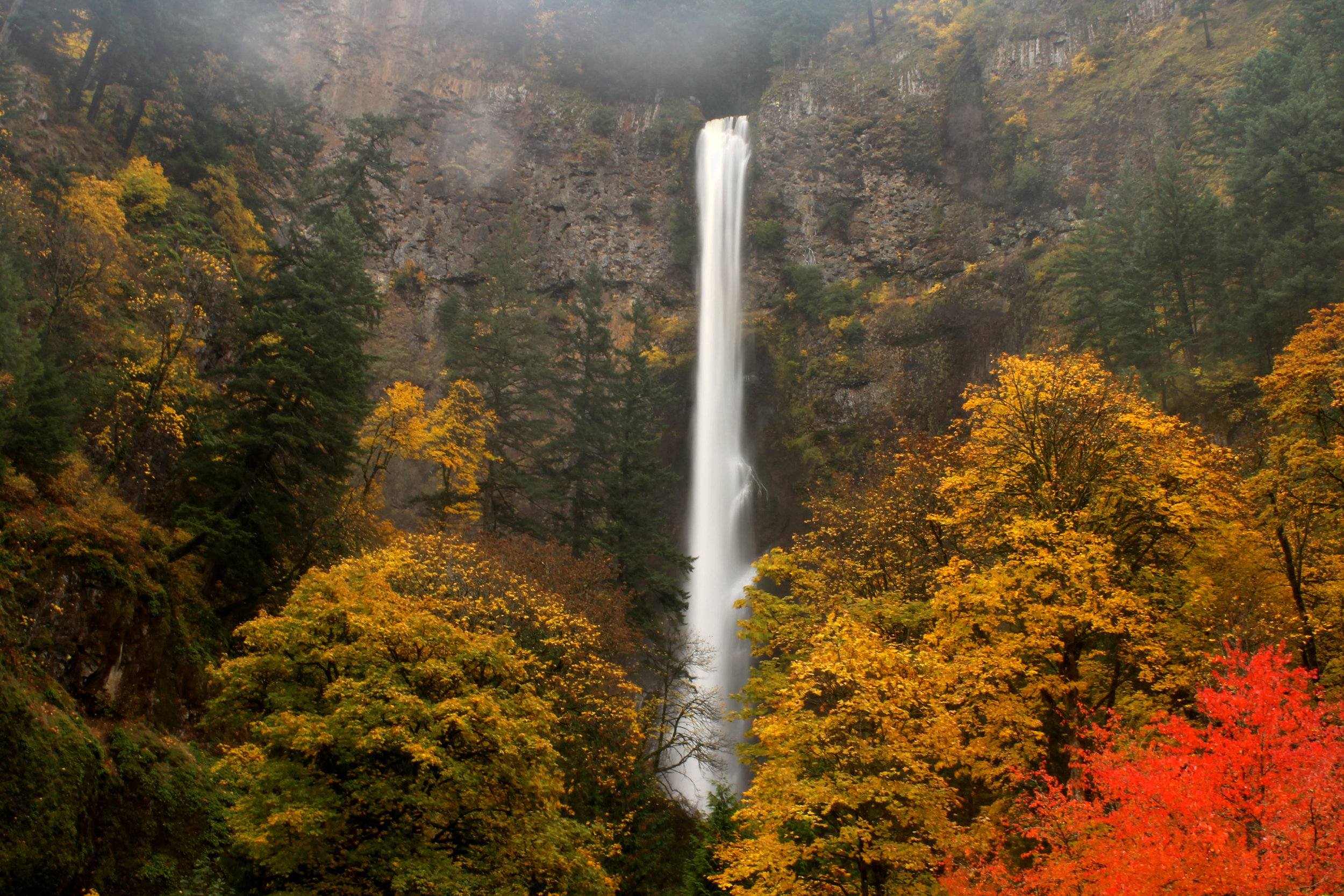 Multnomah Falls in early November.