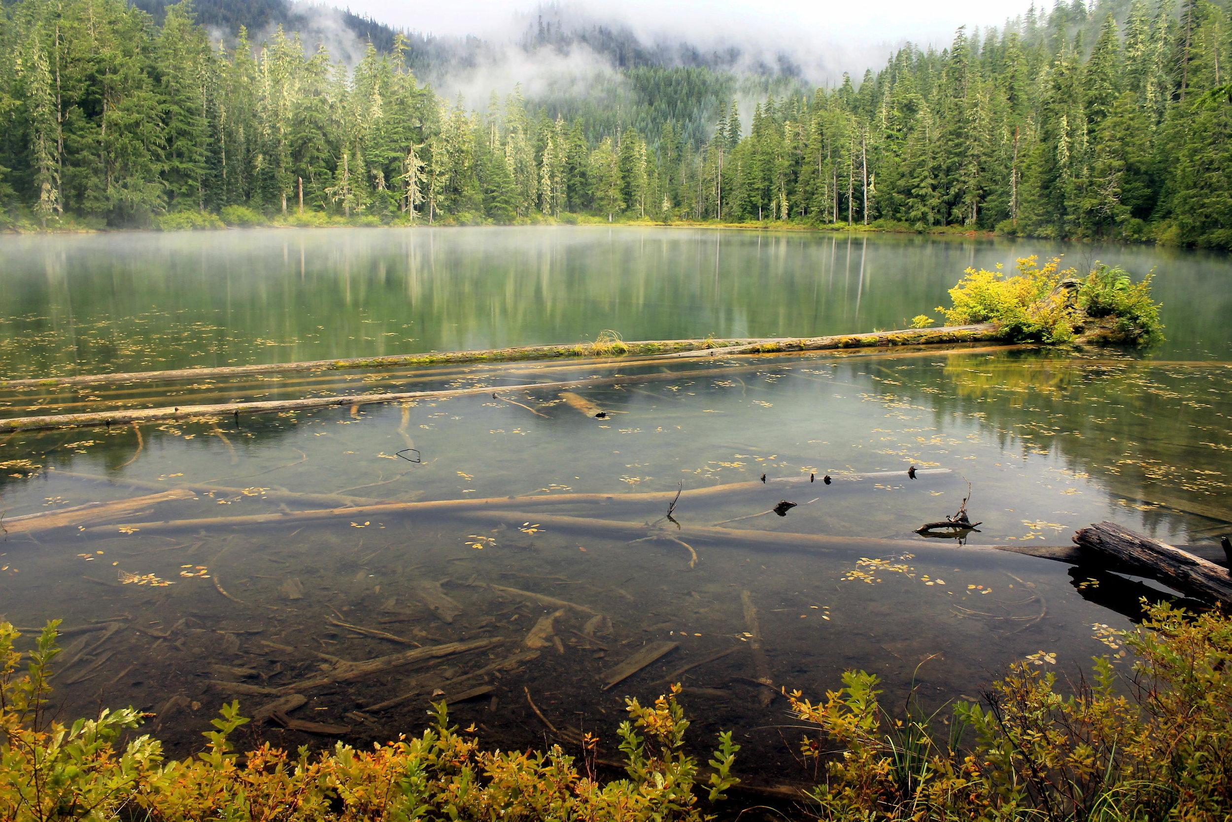 Opal Lake, the source of Opal Creek.