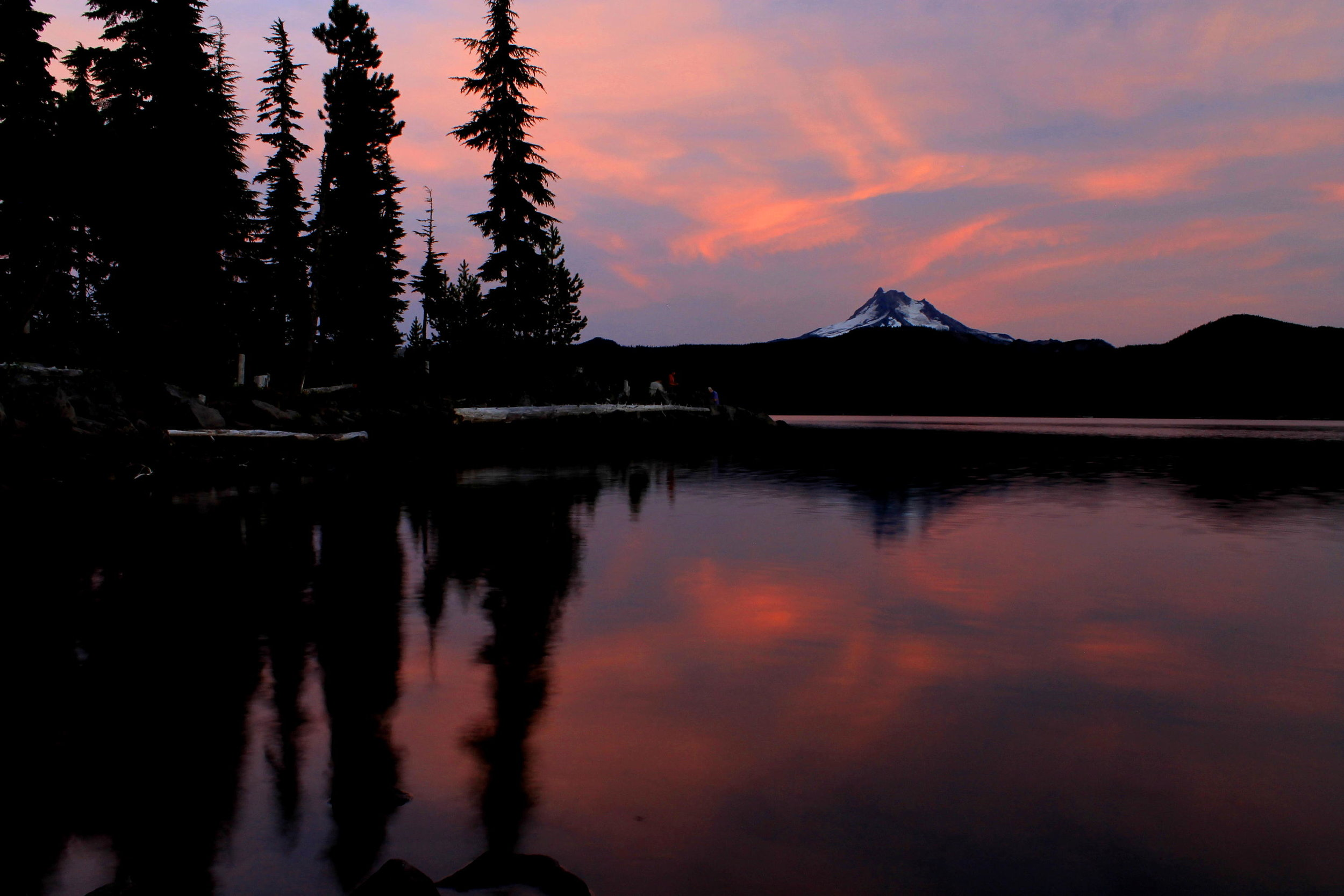 Olallie Lake after sunset, July 2015.