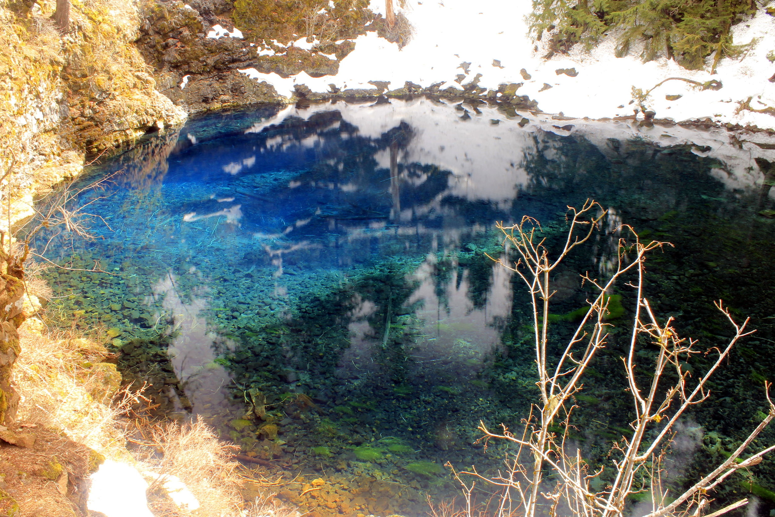 Blue Pool in late March