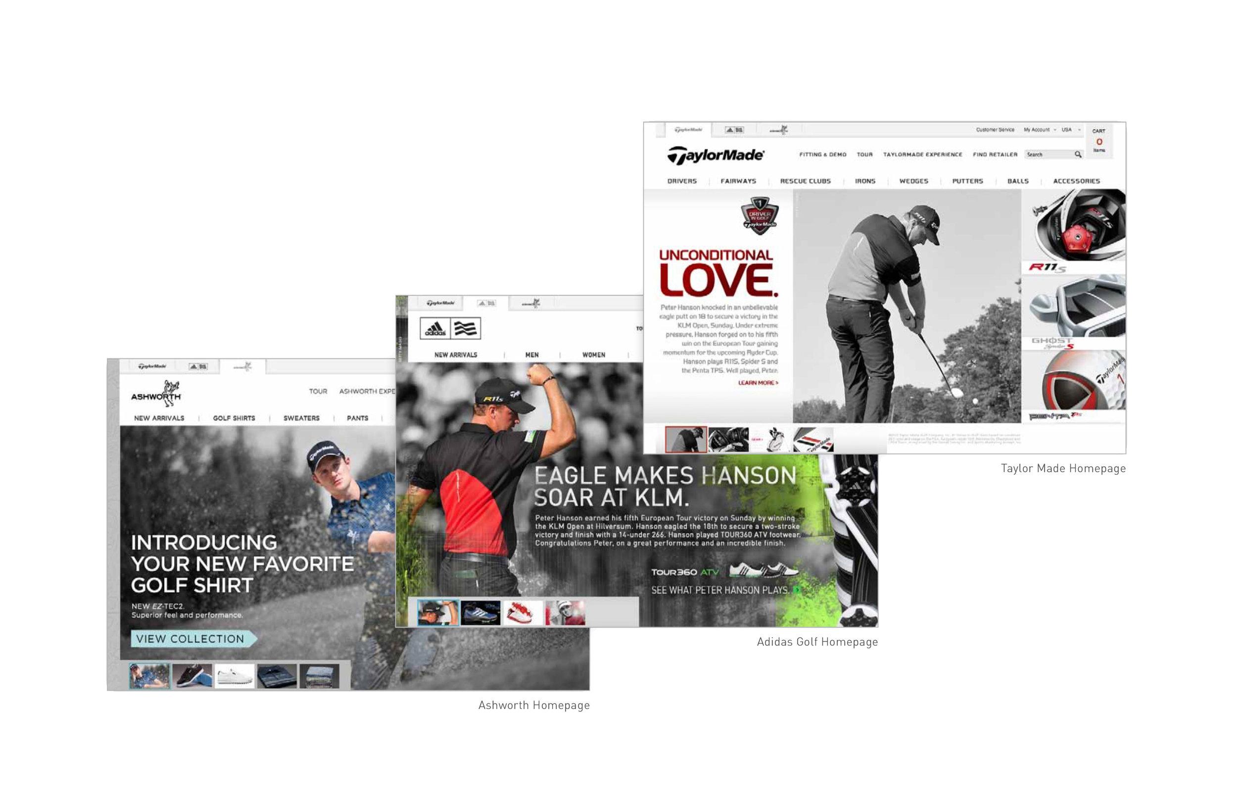 TaylorMade, adidas Golf and Ashworth Golf - UI/UX • DESIGN