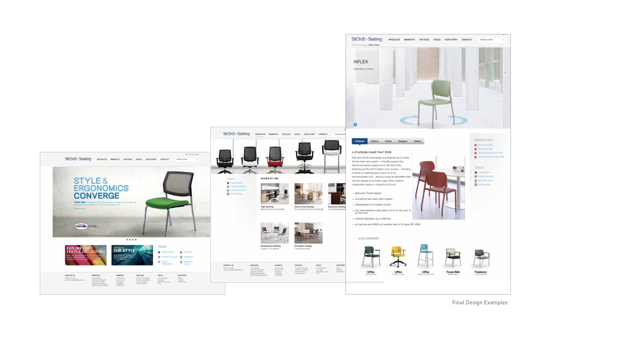 ABOUT THE PROJECT - Exemplis needed to reposition their brand in order to better compete in the marketplace. Even with a great product lineup, they were not recognized in the industry. The entire product catalogs expressed in an invigorated brand and eCommerce experience as a result of new site architecture, visual design and customization modules.