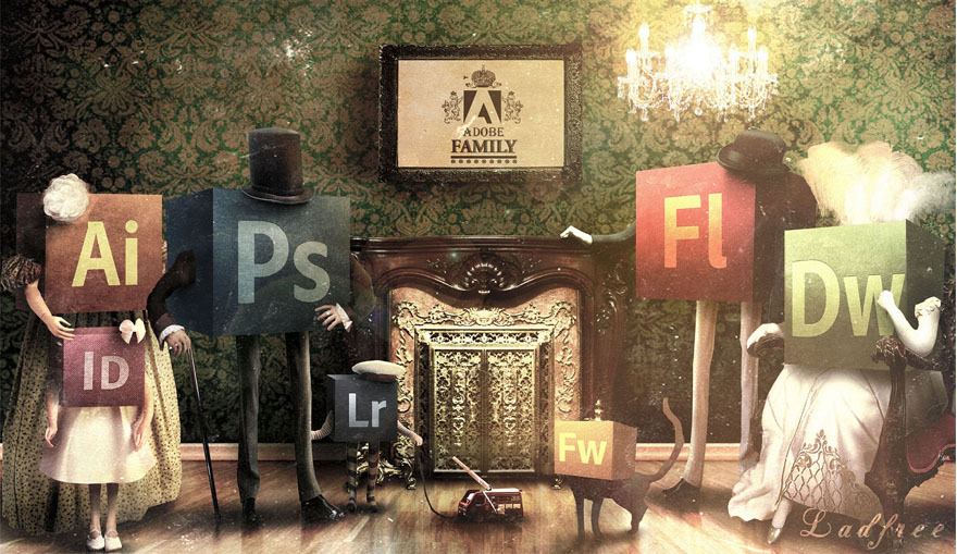 betype :      Adobe Family. 1882 by Ladfree