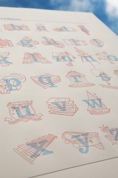 A-Z of Melbourne Letterpress Print