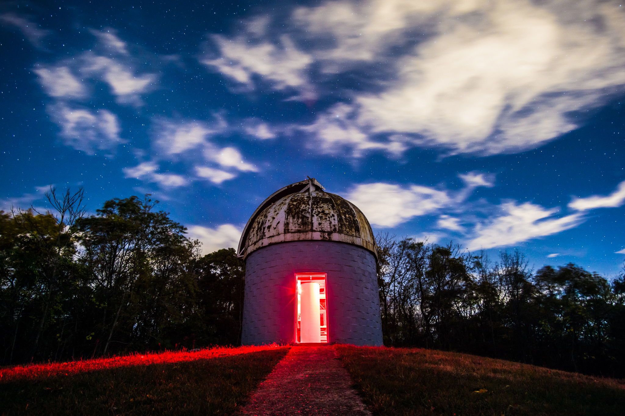 One of my closeset friends, Rena Jaffe, has this one hanging on her living room wall. It's of the Sheep Hill Observatory, nestled in a residential neighborhood of Boonton, New Jersey. It's run by a wonderfully passionate and knowledgeable volunteer astronomical association. It's also  open to the public often .