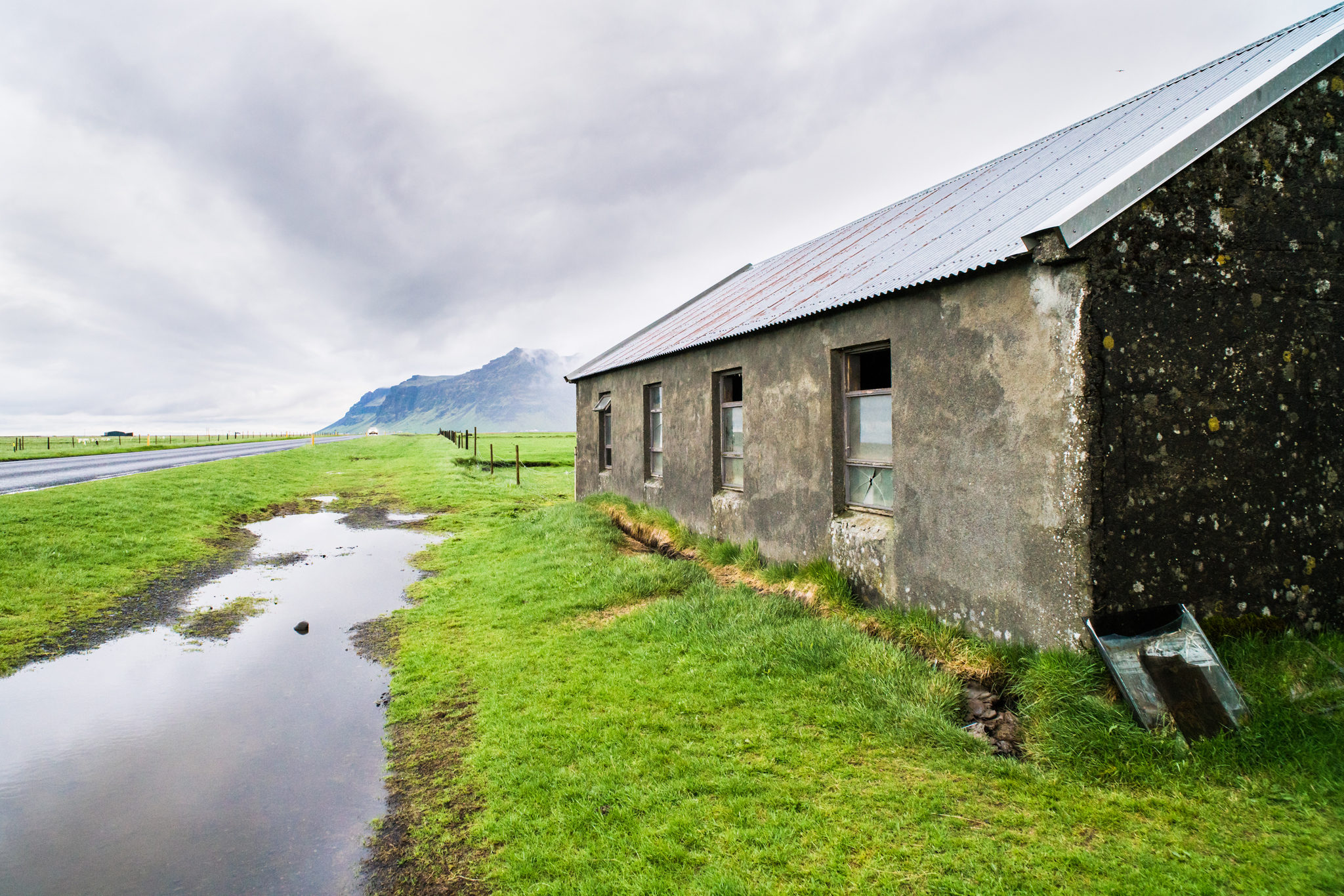 I  wrote recently  about looking for what's less obvious. This home isn't a landmark or an attraction, or anything you'll find in a travel guide to Iceland. It's just what was across the way when my good friend Rebecca Missel and I stayed at an AirBnB near the country's southern coast, just off the Ring Road. I like what my buyer liked — how the home, the road, the puddle and the clouds all lead to the mountain in the distance. It feels like there's a journey ahead.